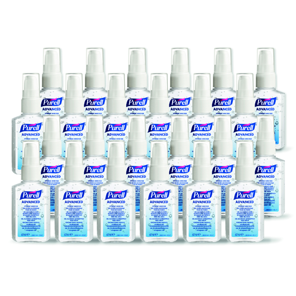 Purell Advanced Hygienic Hand Rub 60ml PERSONAL Issue Spray Pump (24 Pack) 9606-24-DEU00
