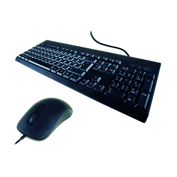 Computer Gear KB235 Standard Anti-Bacterial Keyboard and Mouse 24-0235