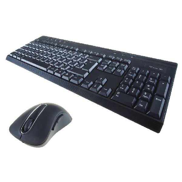 Computer Gear Wireless Multimedia Keyboard and Optical Scroll Mouse Set 24-0236