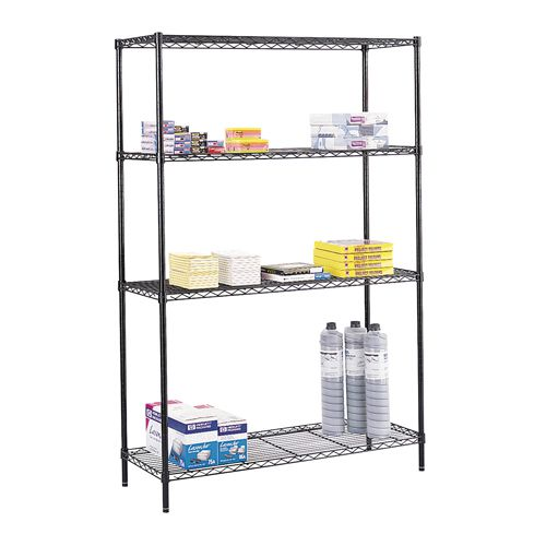 Safco Wire Commercial Shelving Unit 1219mm (Pack of 1) 5241BL