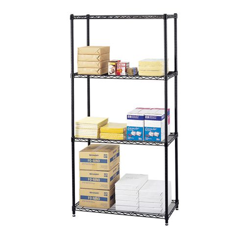 Safco Wire Commercial Shelving Unit 914mm (Pack of 1) 5241BL