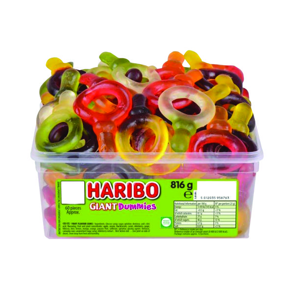 Haribo Giant Dummies Tub 13544