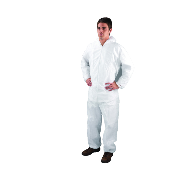 HPC X Large White Non-Woven Coverall DC03