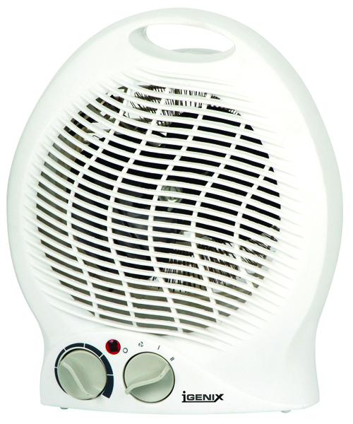 Igenix White 2kW Upright Fan Heater Ig9020