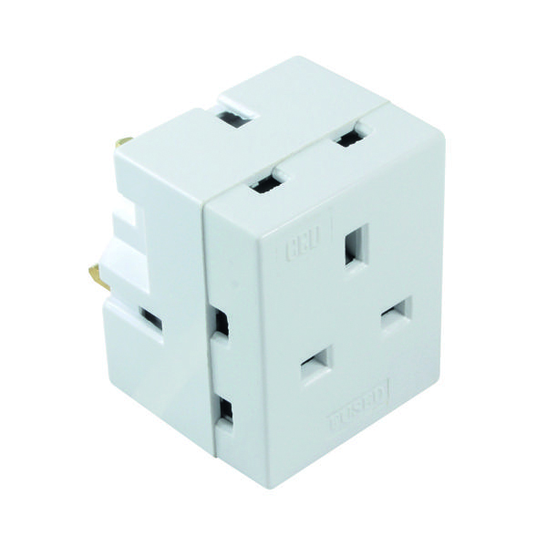 CED 3-Way Adaptor Fused 13amp WAP3W