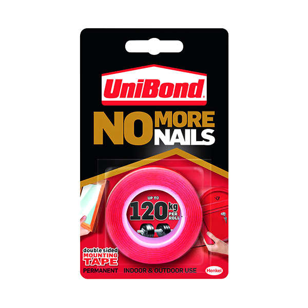UniBond No More Nails Ultra Strong Roll Permanent 19mm x 1.5m 1507603