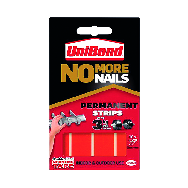 No More Nails Red Permanent Adhesive Strip (10 Pack) 781740