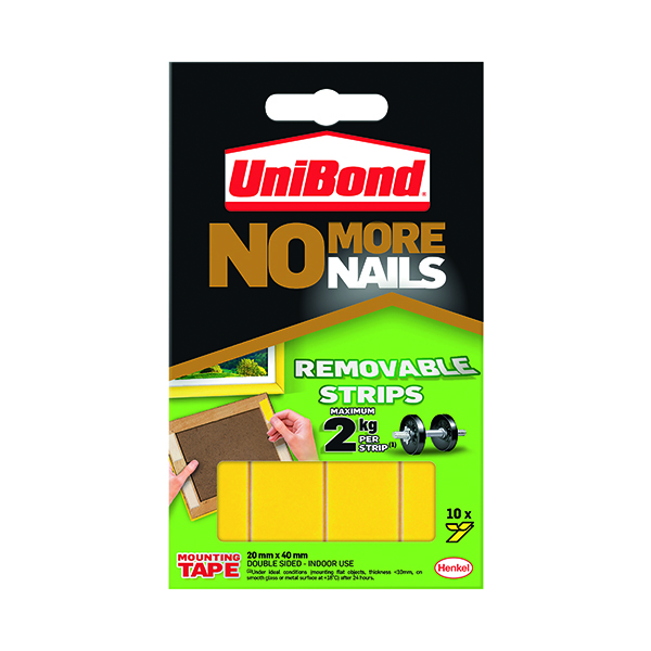 UniBond No More Nails Removable Strips (10 Pack) 1507604