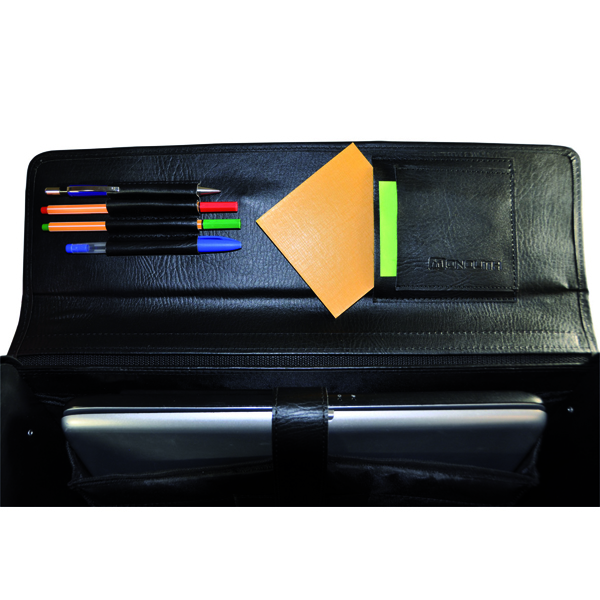Monolith Black Leather Look Pilot Case 2098