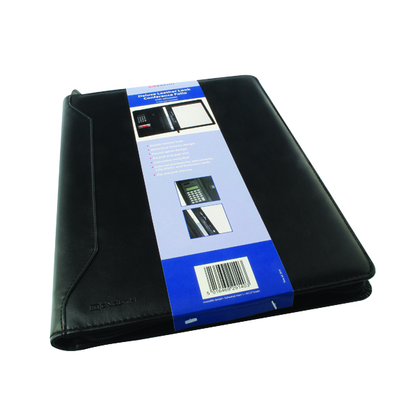 Monolith Black Conference Folder With A4 Pad & Calculator 2914