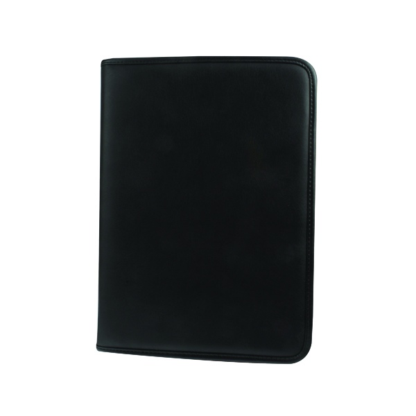 Monolith A4 Black Conference Folder With Pad Clip 2926