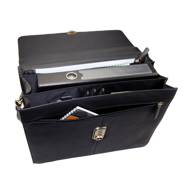 Monolith Black Leather Briefcase 3193