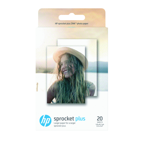 HP Sprocket Plus Photo Paper 5.8 x 8.7cm (20 Pack) 2LY72A