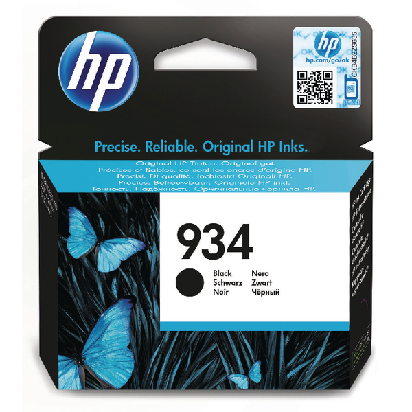 HP 934 Black Ink Cartridge C2P19AE