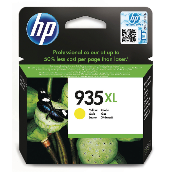 HP 935XL Yellow High Yield Ink Cartridge C2P26AE