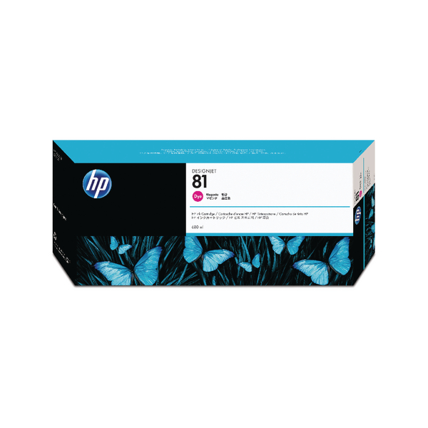 HP 81 Magenta Inkjet Cartridge Dye Ink C4932A