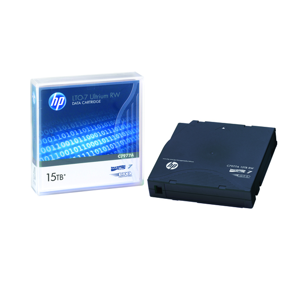 HP LTO-7 Ultrium Data Cartridge 15TB C7977A