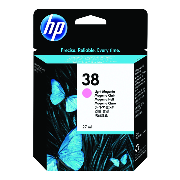 HP 38 Light Magenta Pigment Inkjet Cartridge C9419A