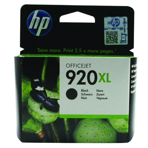 HP 920XL Black High Yield Ink Cartridge CD975AE