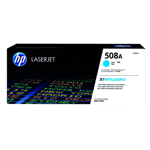 HP 508A Cyan LaserJet Toner Cartridge CF361A