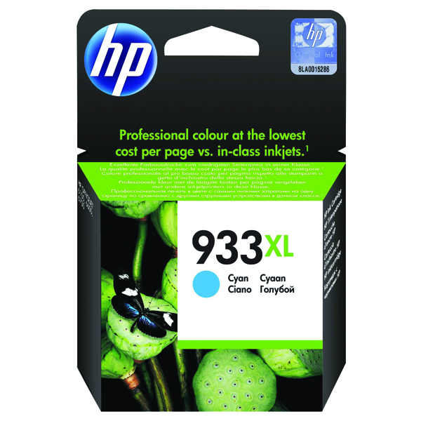 HP 933XL Cyan Officejet Inkjet Cartridge CN054AE