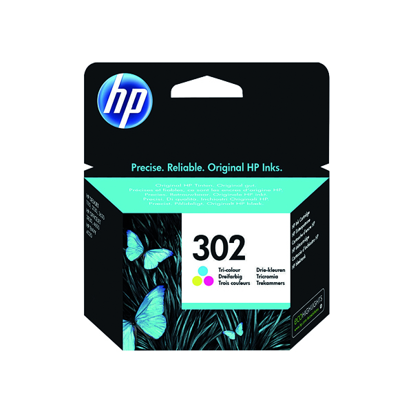 HP 302 Cyan/Magenta/Yellow Ink Cartridge F6U65AE
