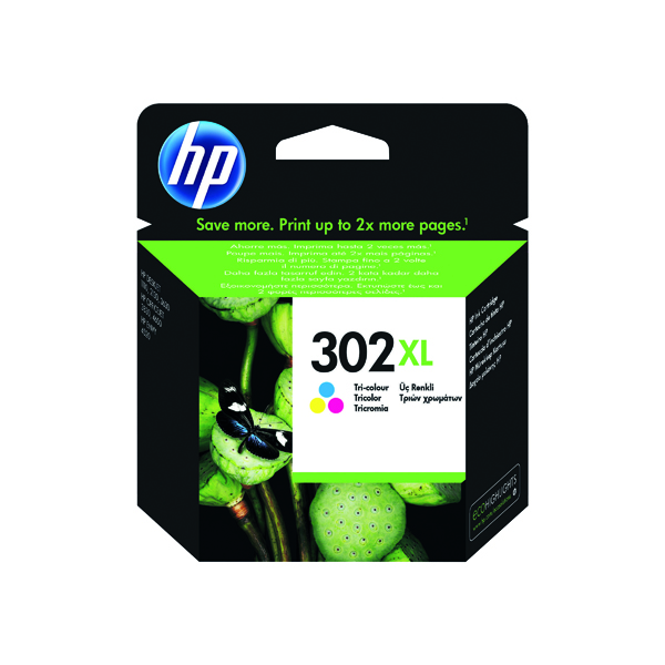 HP 302XL Cyan/Magenta/Yellow Original Ink Cartridge F6U67AE