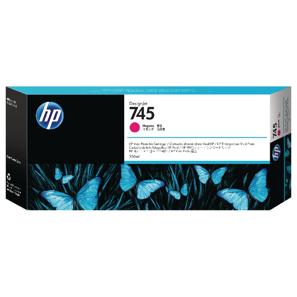 HP 745 Magenta DesignJet Ink Cartridge F9K01A