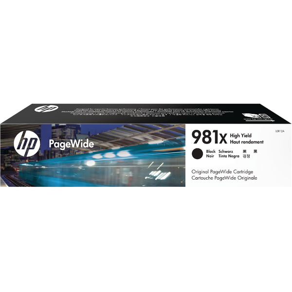 HP 981X PageWide Black High Yield Ink Cartridge L0R12A