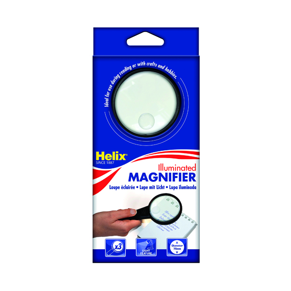 Helix 75mm Illuminated Magnifying Glass MN1025