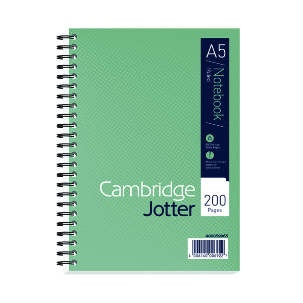 Cambridge A5 Wirebound Notebook Ruled 200 Pages (3 Pack) 400039063