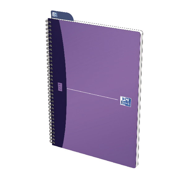Oxford Office A4 Purple Metallic Notebook (5 Pack) 400051875
