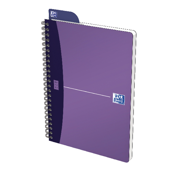 Oxford Office A5 Purple Metallic Notebook (5 Pack) 400051960