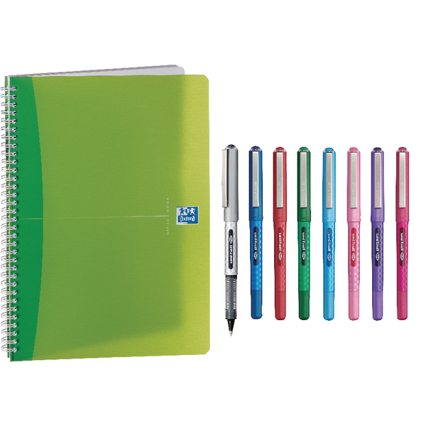 Oxford Translucent A5 Notebook (5 Pack) Buy 2 Get FOC Uniball Pens JD03229