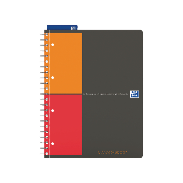 Oxford International Manager A4 Notebook Plus Wirebound 160 Pages 3 for 2 JD11266