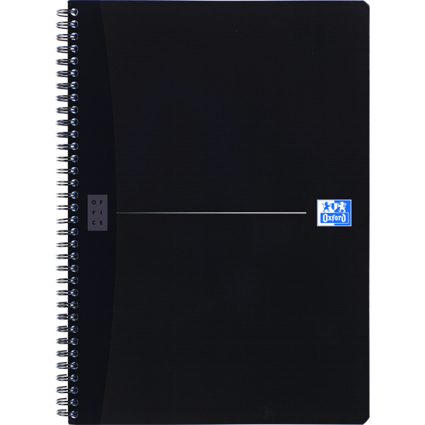 Oxford Office A4 Black Wirebound Notebook Smart Ruled (5 Pack) 100102931