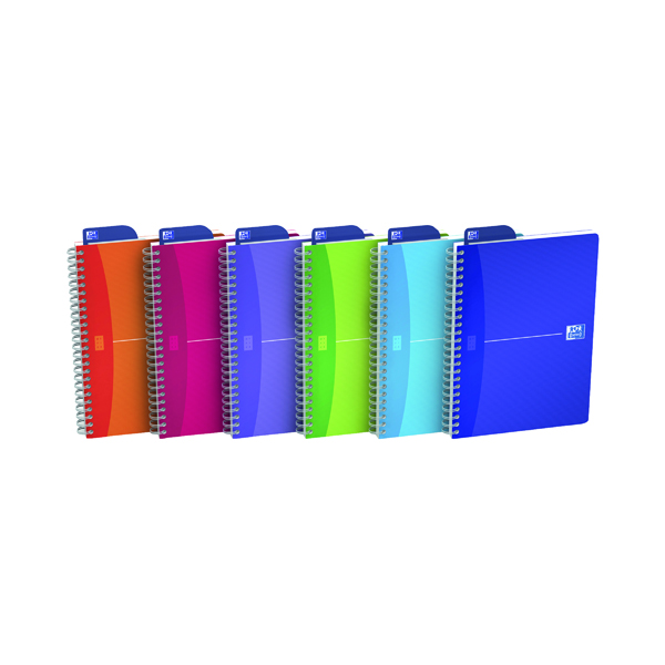 Oxford Office A5 Translucent Assorted Soft Cover Wirebound Notebook (5 Pack) 100104780