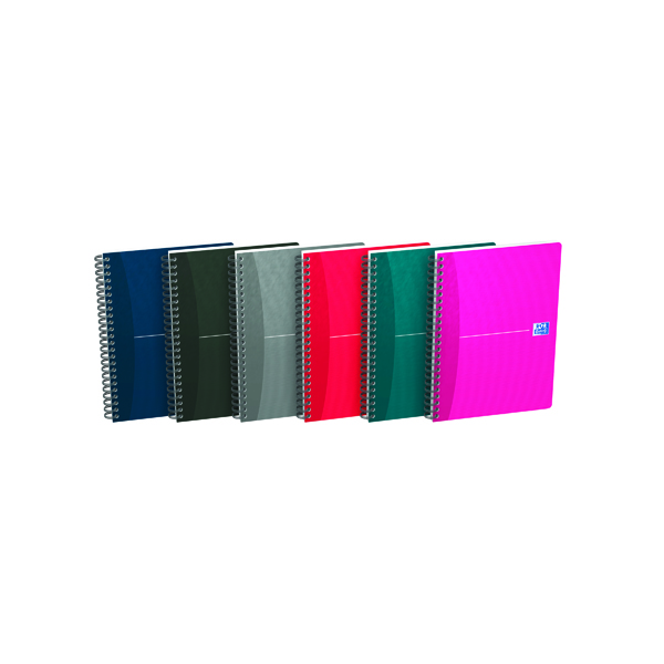Oxford Office Essentials A5 Assorted Soft Cover Wirebound Notebook (5 Pack) 100103741