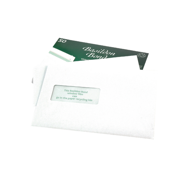 Basildon Bond Window C5 Envelope 120gsm Peel and Seal White (50 Pack) M80278