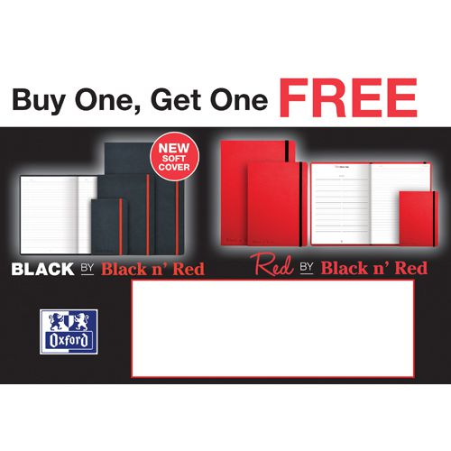 Black by Black n Red Hard Cover A5 Notebook Black (Pack of 1) Buy 1 Get 1 Free JD811272