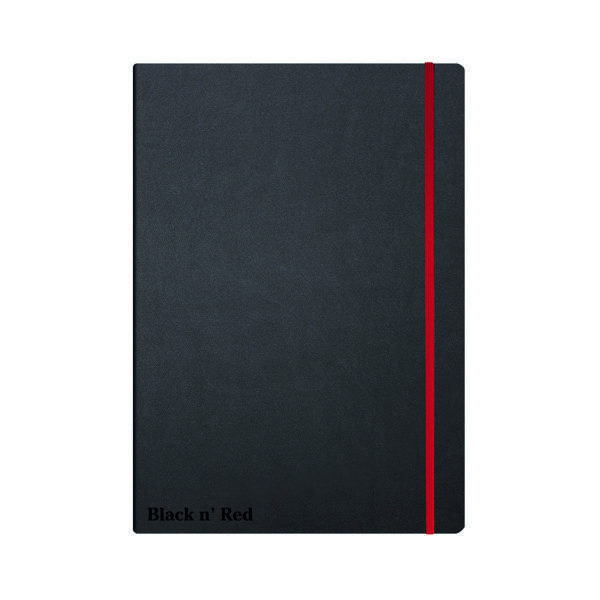 Black n' Red A4 Black Casebound Hardback Notebook 400038675