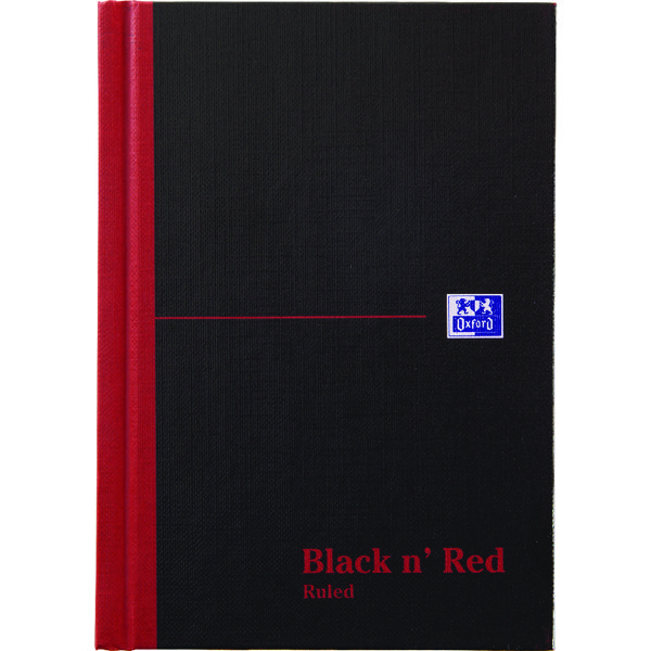 Black n Red Casebound Notebook A5 192 Pages (Pack of 5) Buy 1 Get 1 Free JD831009