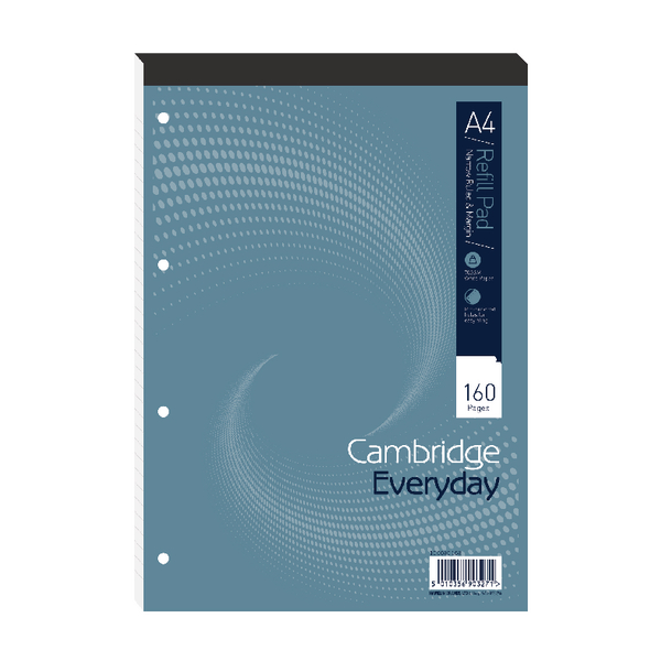 Cambridge Everyday A4 Refill Pad Narrow Ruled Margin (5 Pack) 100080168