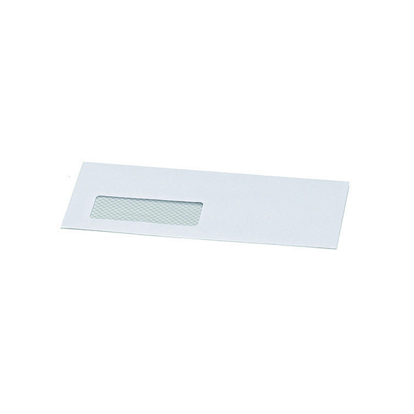Postmaster Envelope 114 x 235mm Window 90gsm Gummed White (500 Pack) B29153