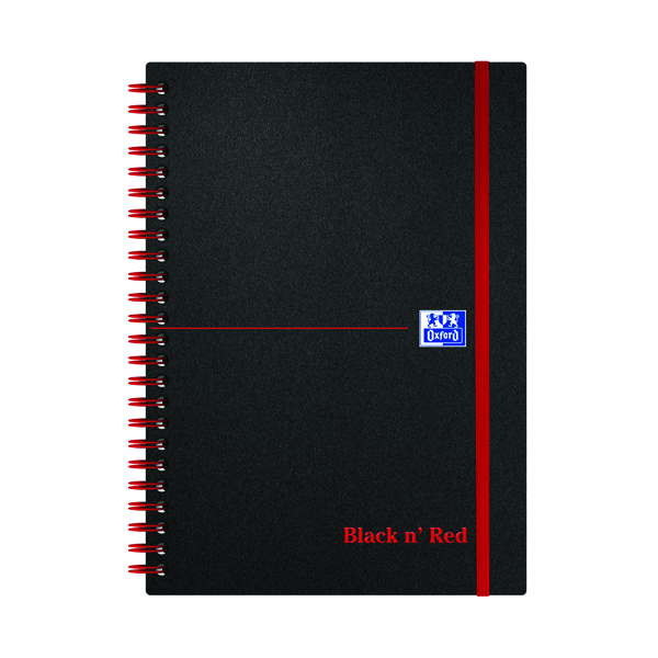 Black n' Red Ruled Polypropylene Wirebound Notebook 140 Pages A5 (5 Pack) 846350109