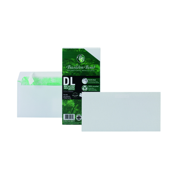 Basildon Bond DL Envelope Peel and Seal 100gsm White (100 Pack) F80275