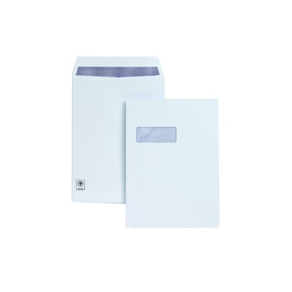 Plus Fabric C4 Window Envelope Self Seal 120gsm White (250 Pack) H27070