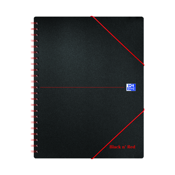Black n' Red A4 Plus Wirebound Polypropylene Meeting Book 160 Pages (5 Pack) 100104323