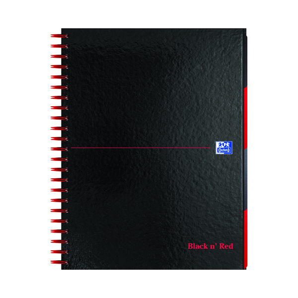 Black n' Red A4 Plus Hardback Wirebound Project Book 200 Pages (3 Pack) 100080730
