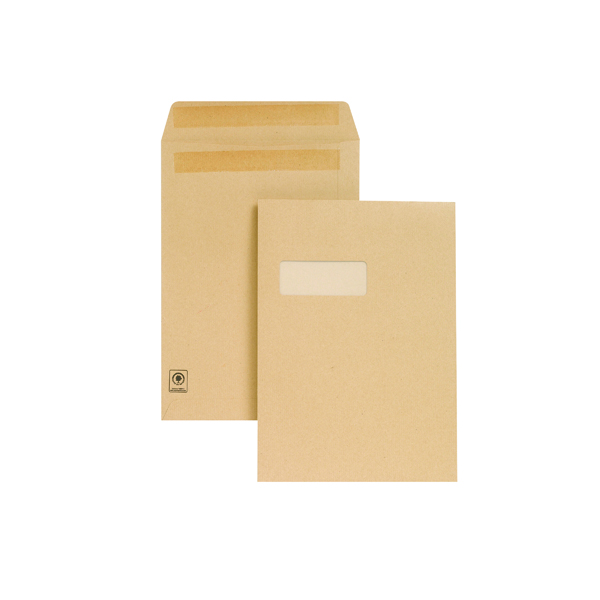 New Guardian C4 Window Envelope 130gsm Manilla Self Seal (250 Pack) M27503